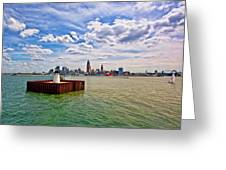 East Pierhead Lighthouse View Of Cleveland Greeting Card