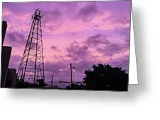 East Texas Oil Derrick Greeting Card
