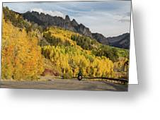 Easy Autumn Rider Greeting Card