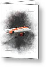 Easyjet Airbus A319-111 Painting Greeting Card
