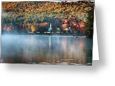 Eaton Nh Little White Church With Fall Foliage Greeting Card by Jeff Folger