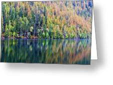 Echo Lake Autumn Shore Greeting Card