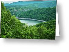 Edersee Lake Surrounded With Forest Greeting Card
