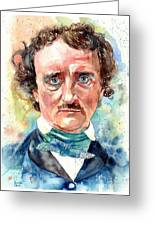 Edgar Allan Poe Portrait Greeting Card