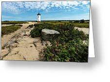 Edgartown Lighthouse Marthas Vineyard Greeting Card