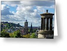 Edinburgh Castle From Calton Hill Greeting Card