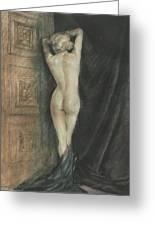 Edouard Chimot Nude In Boudoir  Greeting Card