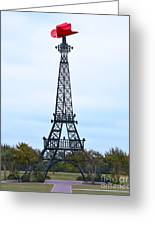 Eiffel Tower In Paris Texas Greeting Card
