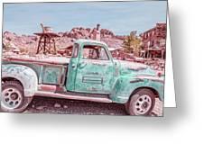 Eldorado Ghost Town Searchlight Nevada Pano Greeting Card