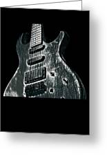 Electric Guitar Musician Player Metal Rock Music Lead Black Greeting Card