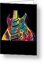 Electric Guitar Musician Player Metal Rock Music Lead Greeting Card