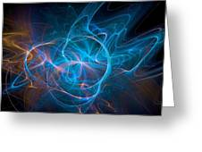 Electric Universe Blue Greeting Card by Don Northup
