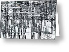 Electrical Substation Greeting Card by Juan Contreras