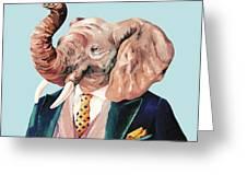 Elephant Greeting Card by Animal Crew
