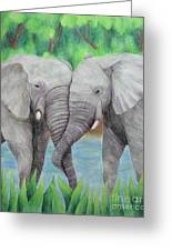 Elephant Couple Greeting Card