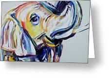 Elephant Tusk Greeting Card