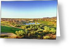 Elevated View Of Golf Course, Sun City Greeting Card