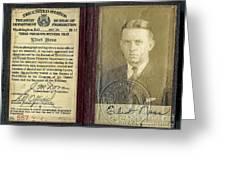 Eliot Ness Treasury Id Greeting Card