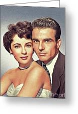Elizabeth Taylor And Montgomery Clift, Hollywood Legends Greeting Card