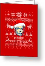 Elon Musk Merry Christmusk Greeting Card