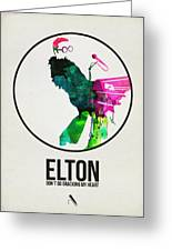 Elton Watercolor Poster Greeting Card