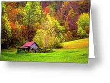 Embraced In Autumn Color Painting Greeting Card