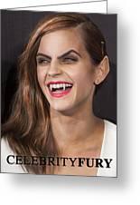 Emma Watson Hair Greeting Card