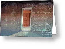 Empty Old Brick House Grafton Ghost Town Greeting Card
