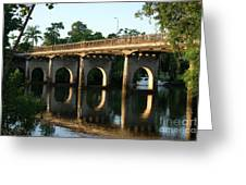 End Of An Era, East Innisfail Jubilee Bridge, Fnq Au  Greeting Card