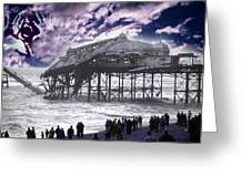 End Of The Pier Show Greeting Card