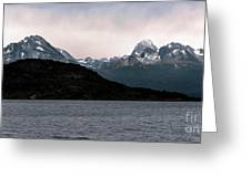 View Over Ensenada Bay Of High Peaks In Tierra Del Fuego National Park, Ushuaia, Argentina Greeting Card