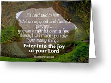 Enter Into Joy Greeting Card