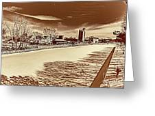 Erie Canal At Pittsford Greeting Card