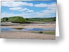 estuary on river Aln at Alnmouth Greeting Card