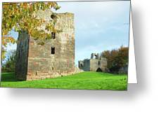 Etal Castle Tower And Gatehouse Greeting Card