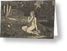 Eva From Eva Und Die Zukunft Greeting Card