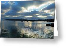 Evening On Windermere In Lake District National Park Greeting Card