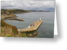Evening Over Mevagissey Harbour  Greeting Card