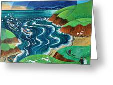 Evening Sea Breezes Greeting Card
