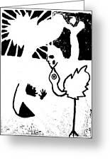 Evolution Of Flamingo Poster 14 Greeting Card