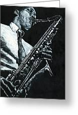 Expressive Sax Greeting Card