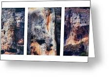 Texture Of Rocks In Canyon   Greeting Card