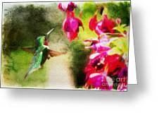 Eye On The Fuchsia Greeting Card