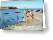 Eyemouth Harbour Pier Entrance Greeting Card