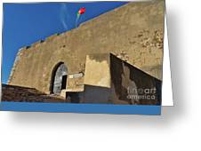 Facade Of The Medieval Castle Of Castro Marim Greeting Card