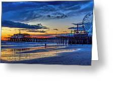 Fading To The Blue Hour - Ferris Wheel Greeting Card