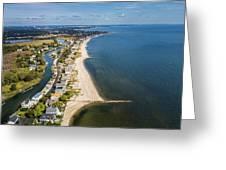 Fairfield Beach Connecticut Aerial Greeting Card