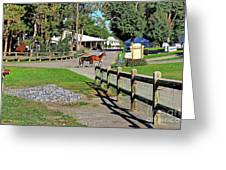 Fairgrounds In Rhinebeck New York Greeting Card