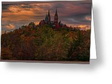Fall Clouds Over Holy Hill Greeting Card
