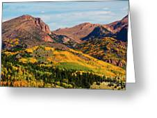 Fall Colors On The North Face Of Pikes Peak Greeting Card